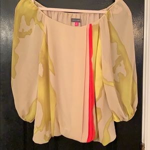 Vince Camuto sheer blouse size Petite small